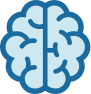 Blue brain icon